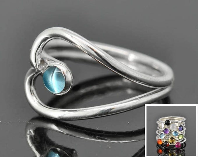 Birthstone ring, heart ring, gemstone ring, sterling silver ring, custom made, bezel birthstone ring, mother daughter, sisters, best friends