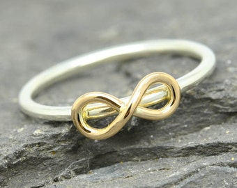 gold infinity ring, infinity knot ring, sterling silver ring, best friend ring, promise ring,personalized ring, friendship ring,sisters ring
