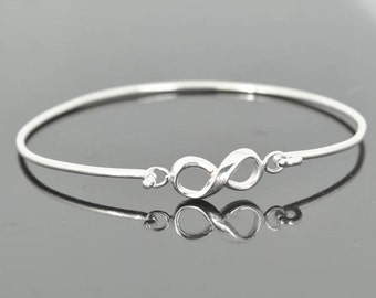 Infinity bangle, best friend, sister, forever, eternity, beyond, love, friendship, bracelet, cuff, sterling, silver