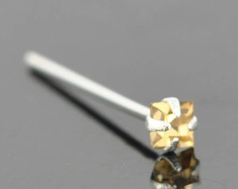 Nose Ring, crystal nose ring, crystal, sterling silver, nose stud, nose piercing, nose jewelry, body jewelry