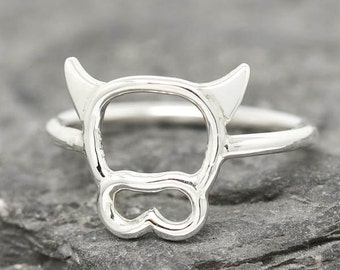 Cow Ring, Cow Jewelry, Cow Accessories, 925 Sterling Silver, Animal Ring, Animal jewelry, Kids Ring, Kids Jewelry