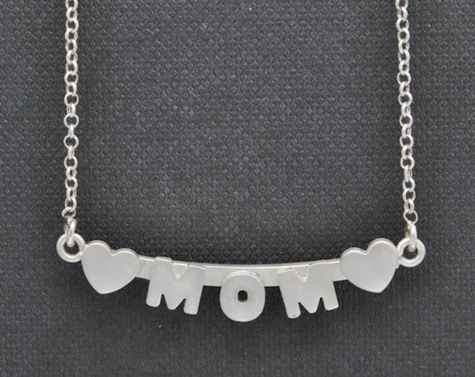 Mom necklace, mothers day necklace, gift for mom, necklace, personalized necklace, grandma, heart necklace