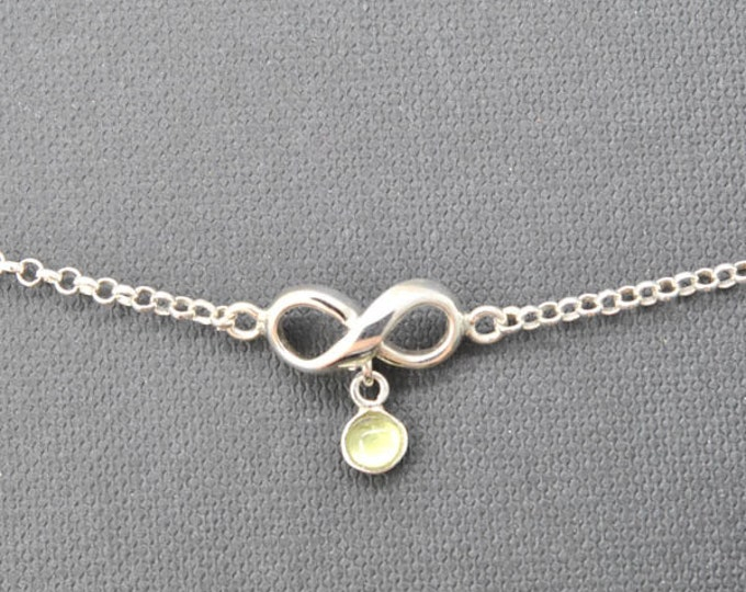 Infinity Bracelet, Anklet, infinity anklet, sterling silver anklet, infinity bracelet, infinity jewelry, 925, silver anklet, bridesmaid gift