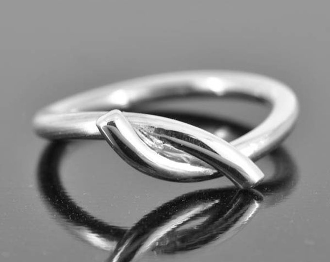 knot ring, hug and kiss ring, his and hers ring, promise ring, sterling, silver