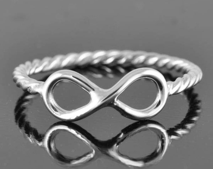 infinity ring, infinity knot ring, sterling silver ring, best friend ring, promise ring,personalized ring, sisters ring, Bridesmaid Gift