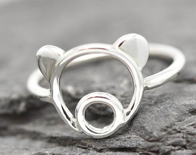 Teddy Bear Ring, Polar Bear Ring, Bear Jewelry, Grizzly Bear Ring, 925 Sterling Silver, Animal Ring, Animal jewelry, Kids Ring, Kids Jewelry