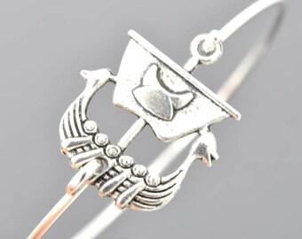 Viking Ship Bracelet, Sterling Silver Bangle, Viking Ship Bangle, Anchor Jewelry, Stackable Bangle, Bridesmaid Bangle, Bridesmaid jewelry