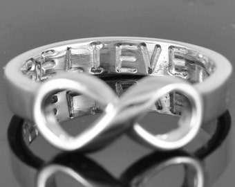 Infinity Ring, Wedding Ring, Wedding Band, Anniversary Ring, Promise Ring, Engagement Ring, Engraving Ring, Bridesmaid Gift,  Maid of Honor