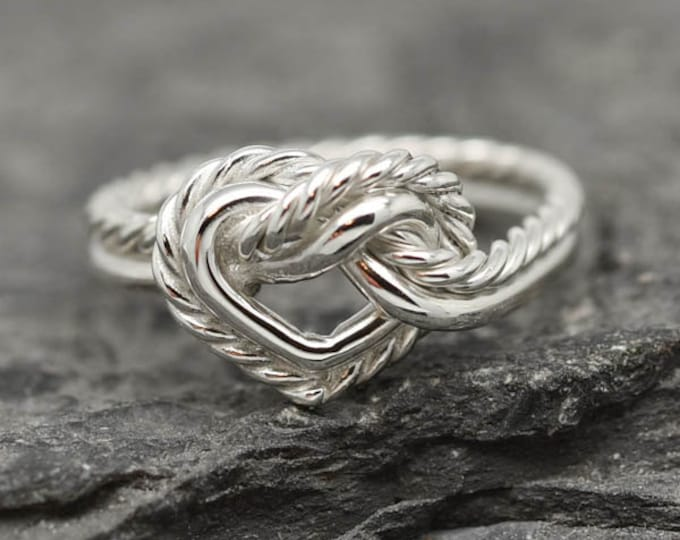 Double Heart Infinity Ring, Knot Ring, Best Friend Ring, Promise Ring, Personalized Ring, Friendship Ring, Sisters Ring, Bridesmaid Gift