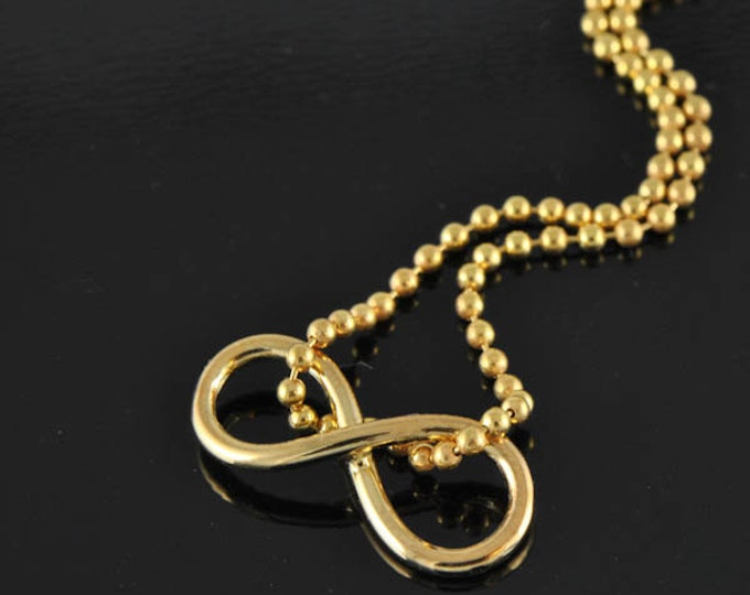 Infinity knot pendant, infinity necklace, infinity, rose gold plated, gold plated, bridesmaid gift, love knot, infinity jewelry