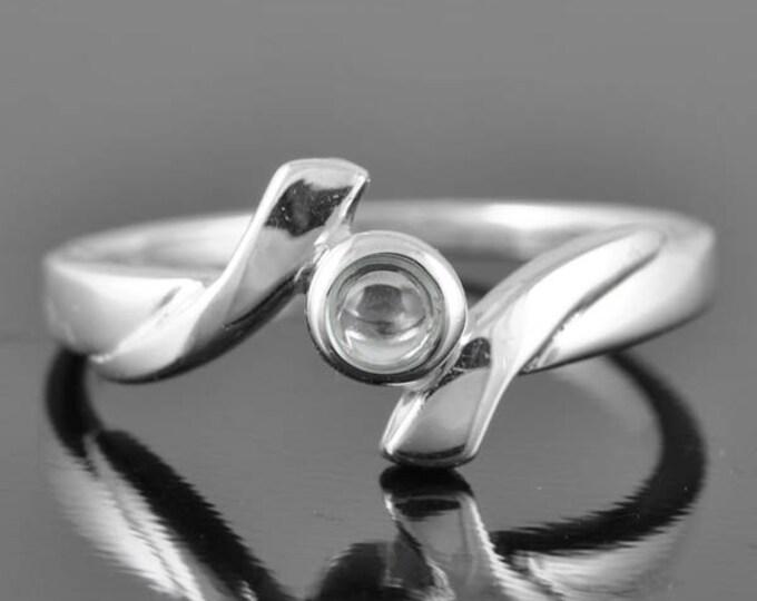 Blue Topaz ring, sterling silver ring, blue round, gemstone ring, december birthstone