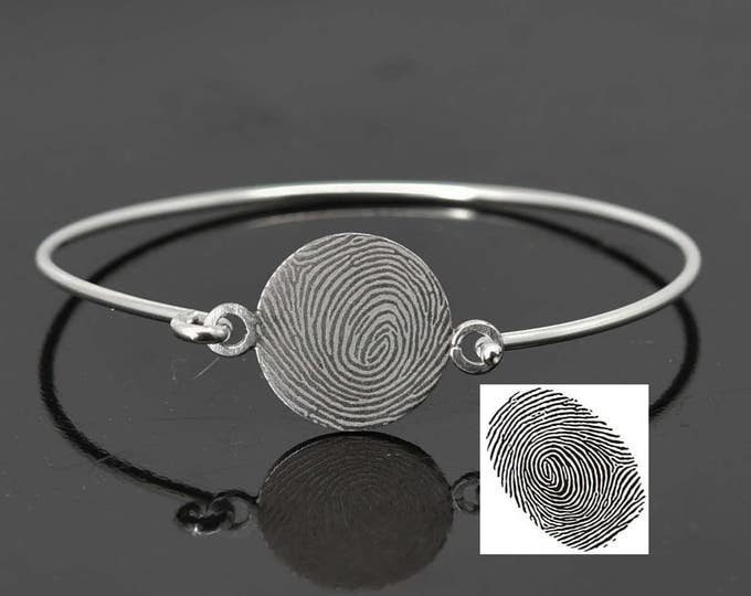 Fingerprint Bangle, Fingerprint Jewelry, Handwriting bangle, Handwriting Jewelry, Stacking Bangle, Engraved Bangle, Personalized Jewelry