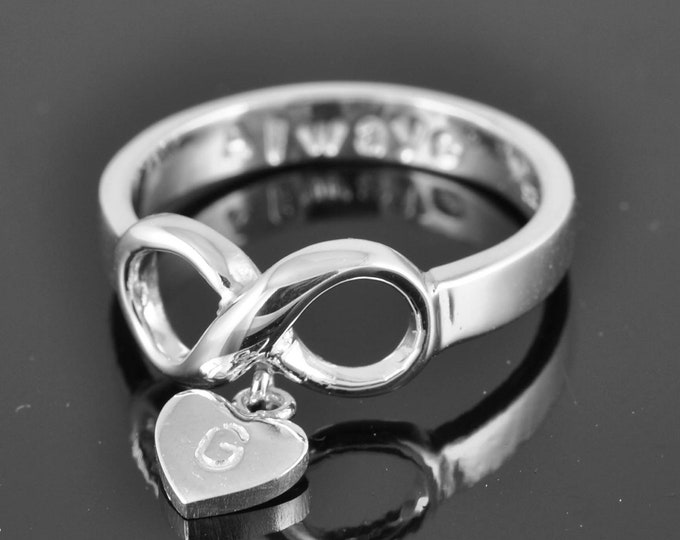 infinity ring, infinity knot ring, best friend ring, promise ring,personalized ring, friendship ring, sisters ring, Bridesmaid gift, bridall