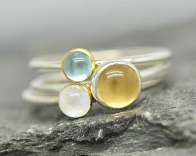 Birthstone Ring, Gemstone Ring, Bridesmaid Gift, stacking Ring, bridal jewelry, Personalized gemstone Ring, Bridesmaid jewelry, gift for her