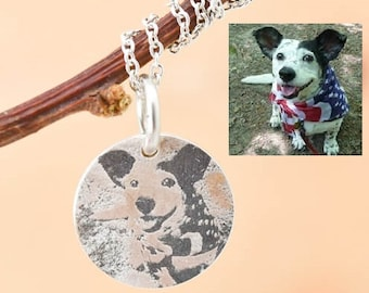 Photo Engraved Necklace, Photo Engraved Jewelry, Engraved Necklace, Engraved Jewelry, Personalized Necklace, Bridesmaid Gift, Best Friend