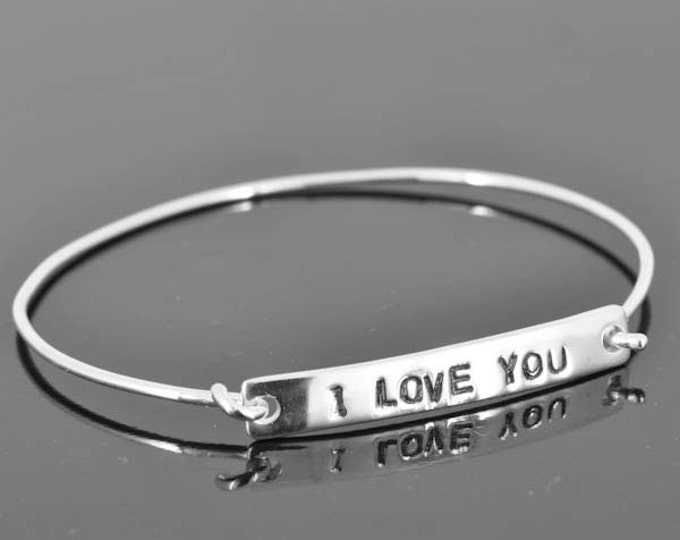 personalized bangle, best friend, sister, ID bangle, initial, love, friendship, bracelet, cuff, sterling silver