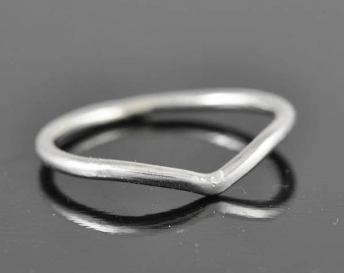 chervon ring, stacking ring, stackable ring, his and hers wedding band, sterling silver ring, silver band, wedding ring, knuckle ring