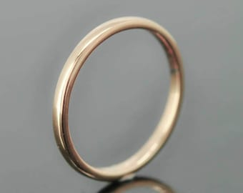 14K rose gold ring, 1mm x 1mm, wedding band, wedding ring, half round, mens wedding ring, mens wedding band, size up to 6