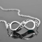 personalized infinity necklace, sterling silver, bridesmaid gift, friendship, bridesmaid gift, infinity jewelry, love