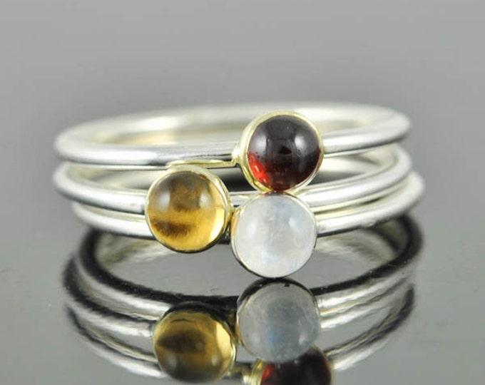 Garnet ring, gemstone ring, stacking ring, january birthstone ring, personalized ring, bridesmaid ring, bridesmaid gift, best friend ring,