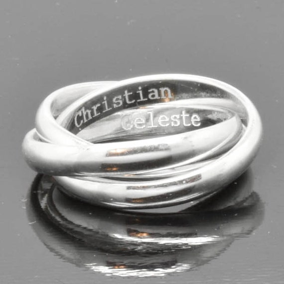 Wedding Band Engraving Ring Russian Ring Rolling Ring Etsy