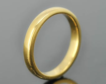 14K yellow gold ring, 2mm x 1mm, wedding band, wedding ring, half round, mens wedding ring, mens wedding band, size up to 6