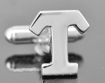 Initial T, Personalized cufflinks, Initial cufflinks, mens accessories, mens cufflinks, groomsmen gift, Gift for Father, Wedding day gift