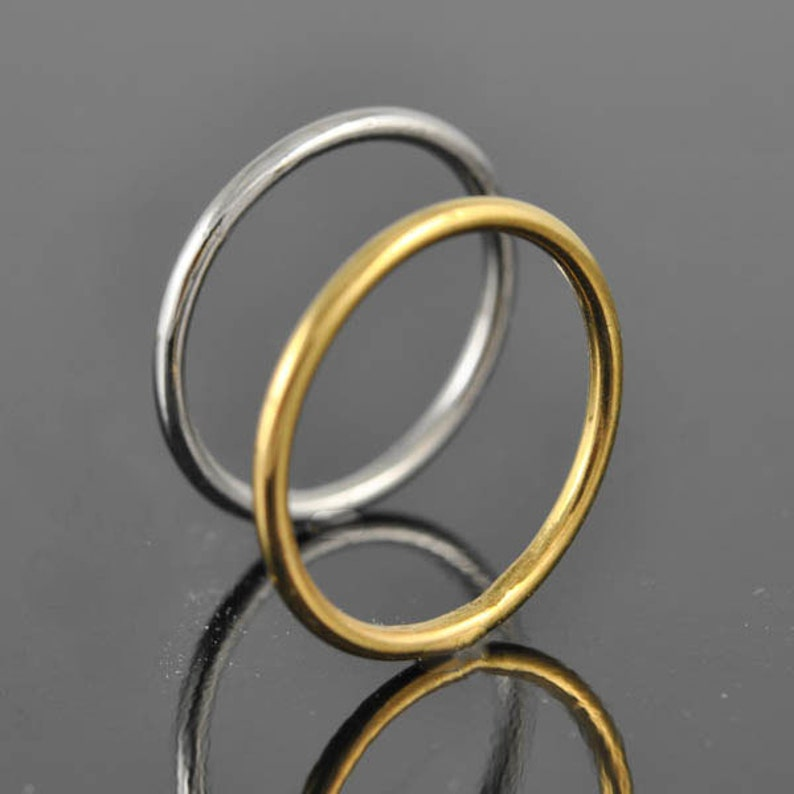 promise stacking white gold ring Size up to 9 band rose gold engagement wedding yellow gold ring