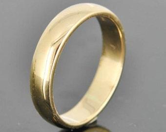 14K Yellow Gold Ring, 3mm x 1.5mm, Wedding Band, Wedding Ring, Yellow Gold Band, Half Round Band, Size up to 6