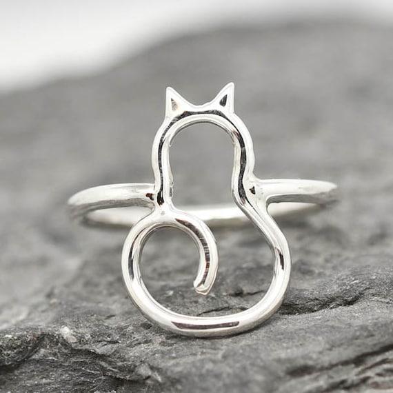 Vintage Mignon Chouette Animal Ring 925 Argent Hommes Femmes Mariage Bijoux Cadeau Taille 7-14