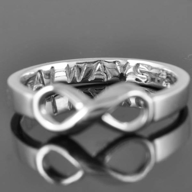 Infinity Ring Maid of Honor Engraving Ring Bridesmaid Gift Engagement Ring Wedding Band Wedding Ring Promise Ring Anniversary Ring