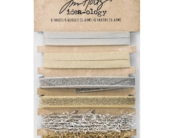 Tim Holtz Idea-Ology Metallic Trimmings 1yd 6/Pkg