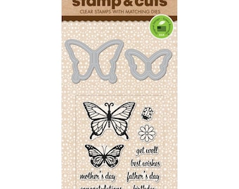 Hero Arts Stamp & Cuts - BUTTERFLY PAIR