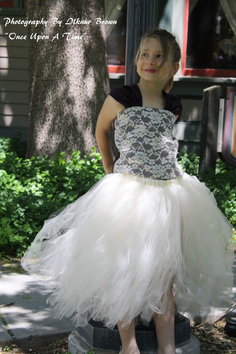 Vintage eggplant and Ivory lace flower girl dresses great ...  Ivory Lace Vintage Flower Girl Dress