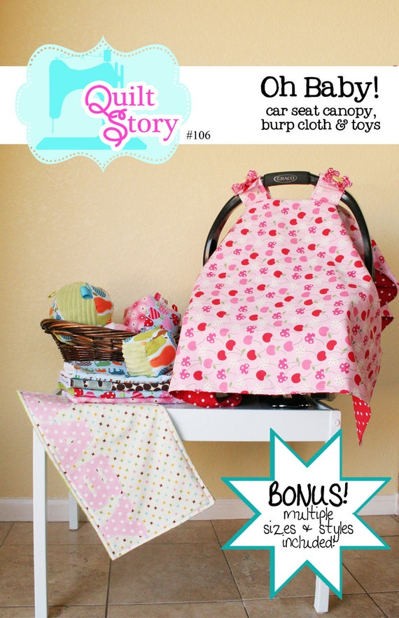 Car Seat Cover Canopy Pdf Pattern Toy Sewing Etsy