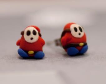 Shy Guy Earrings Mario