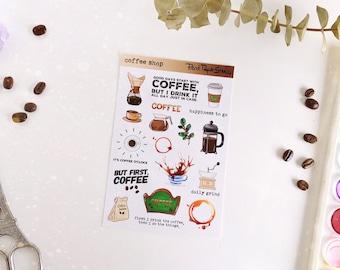 Coffee Shop sticker sheet