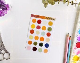 Crisp Leaves palette sticker sheet