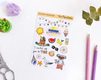 Summer Memories sticker sheet