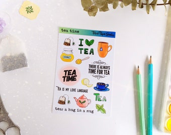 Tea Time sticker sheet