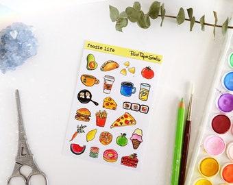 Foodie Life sticker sheet