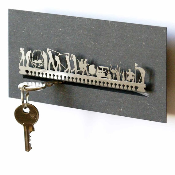 Golf Key Board Key Rack In Gift Box Modern Key Holder Etsy