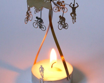 Racer candle carousel, stainless steel gift