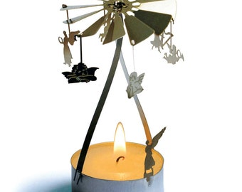Angel candle carousel, stainless steel gift