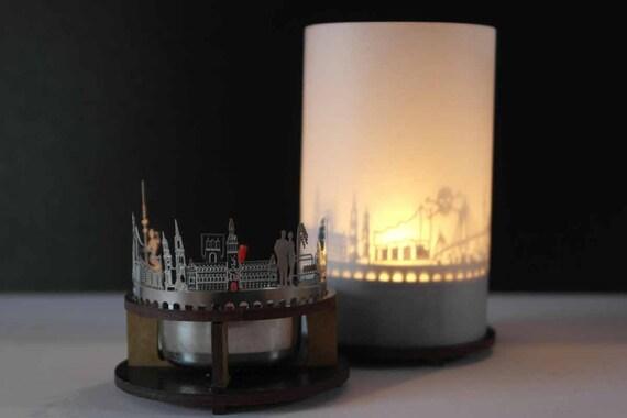 hamburg skyline windlicht schattenspiel premium geschenk. Black Bedroom Furniture Sets. Home Design Ideas