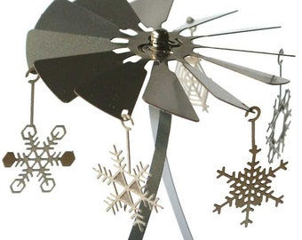 Snow Flakes candle carousel, stainless steel gift