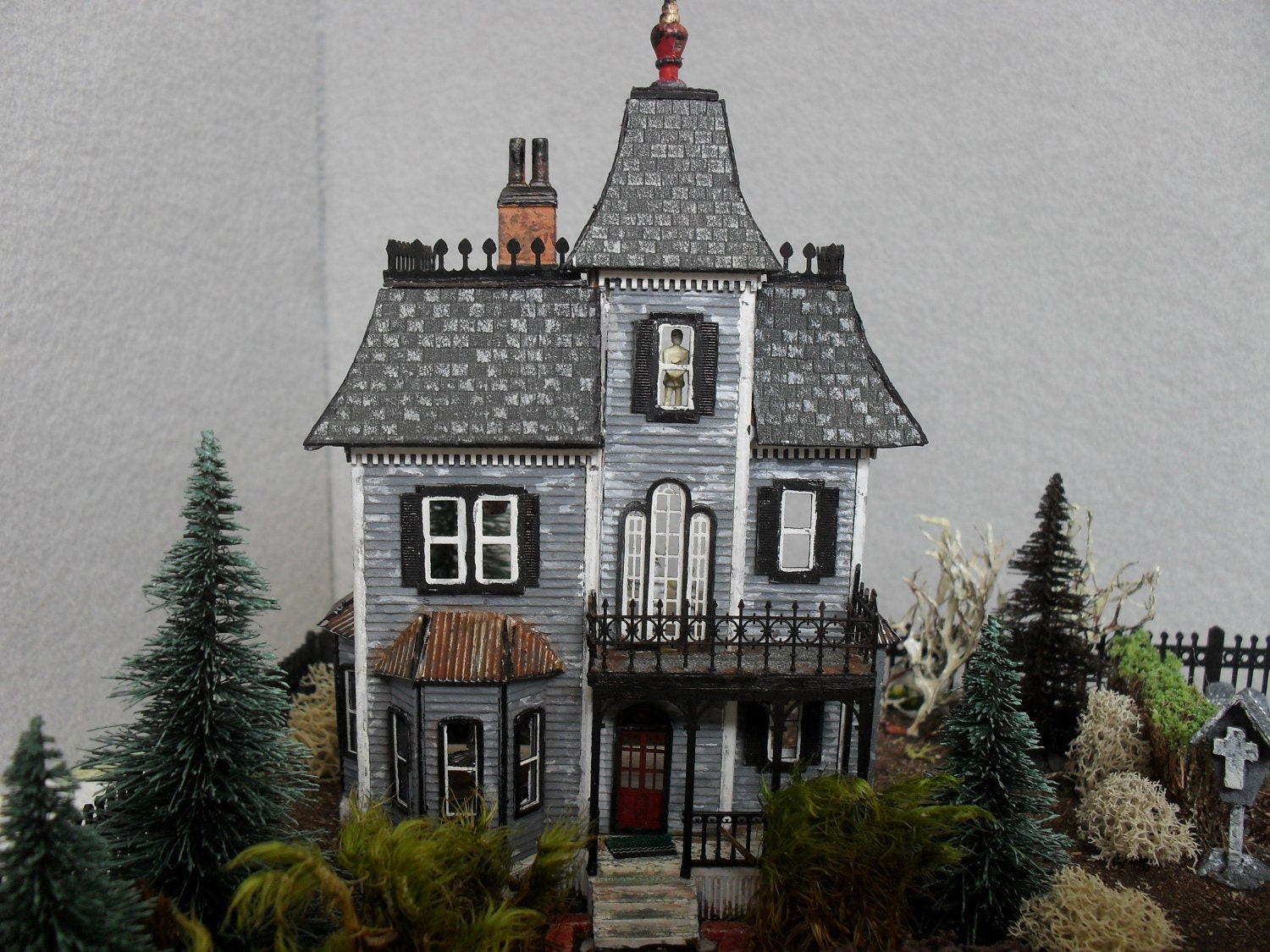 Made To Order Haunted Dollhouse Property 1 144 Scale Etsy