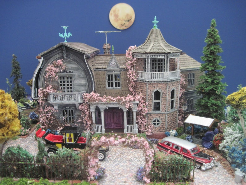 Made-to-Order Munster House Furnished Dollhouse on a Property image 0