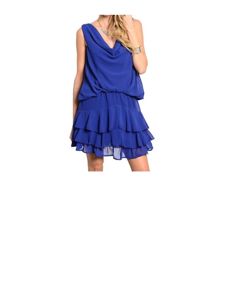 Ruffle Tier Open Back Flapper Dress