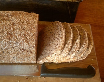 Sorghum Multi-seed Bread recipe (gluten free, dairy free, egg free, gum free)
